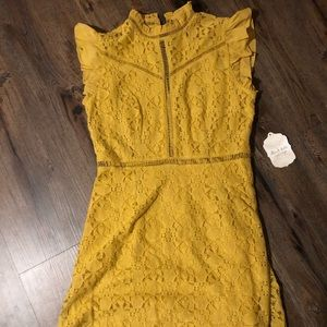 Altar'd State mustard yellow dress